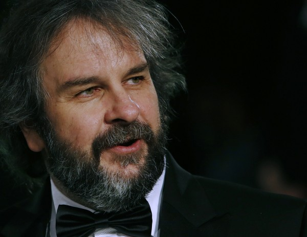 """Director Peter Jackson arrives for the royal premiere of his film """"The Hobbit - An Unexpected Journey"""" in central London December 12, 2012."""