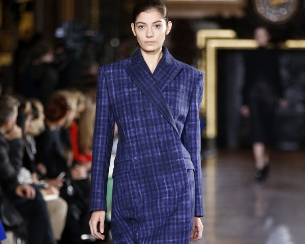 A model presents a creation by British designer Stella McCartney as part of her Fall-Winter 2013/2014 women's ready-to-wear fashion show during Paris fashion week March 4, 2013.