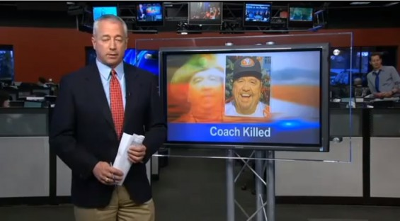 Coach Dies in Freak Accident