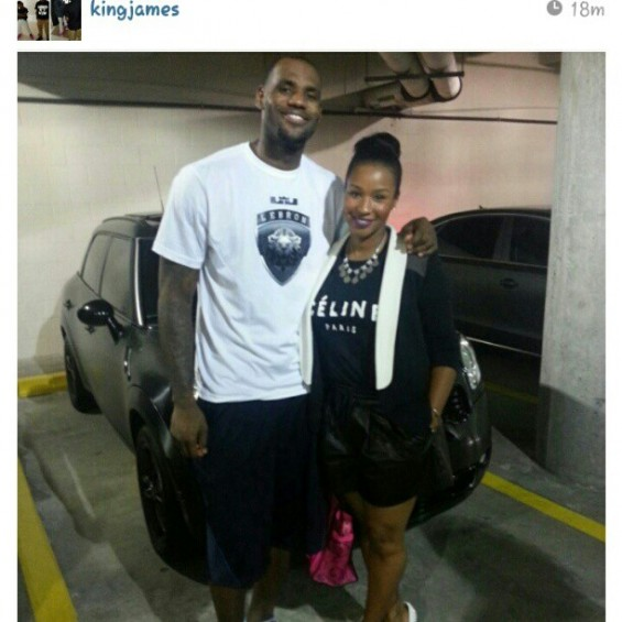 Savannah Brinson & Lebron James