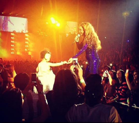 Beyonce and Blue Ivy