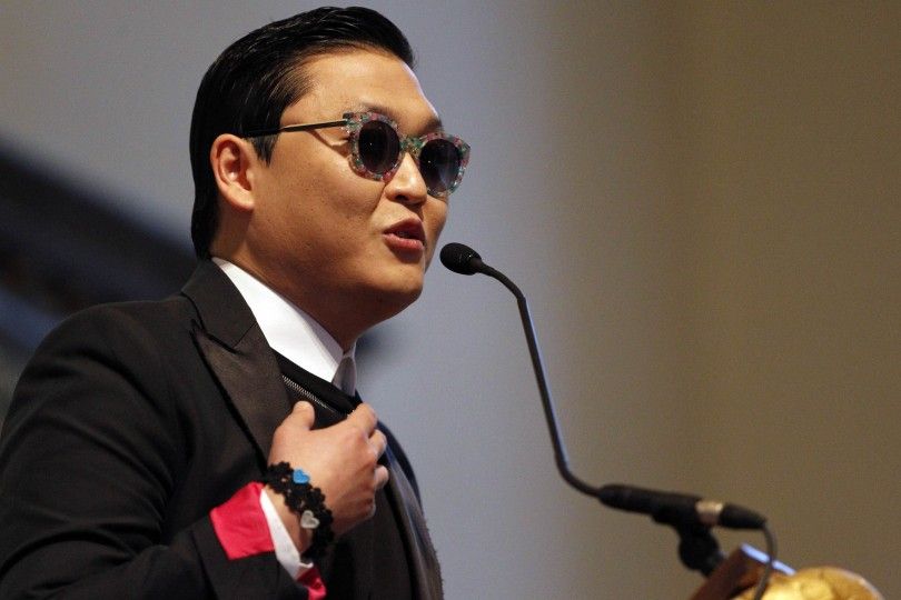 South Korean singer PSY speaks at Harvard University's Memorial Church in Cambridge, Massachusetts May 9, 2013.