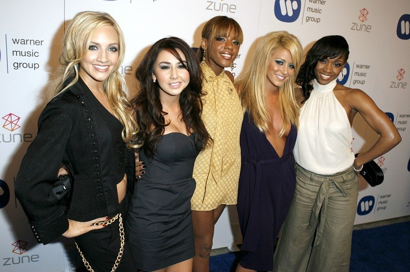 Music group Danity Kane arrives at the Warner Music Group Grammy after-party in Los Angeles February 11, 2007.