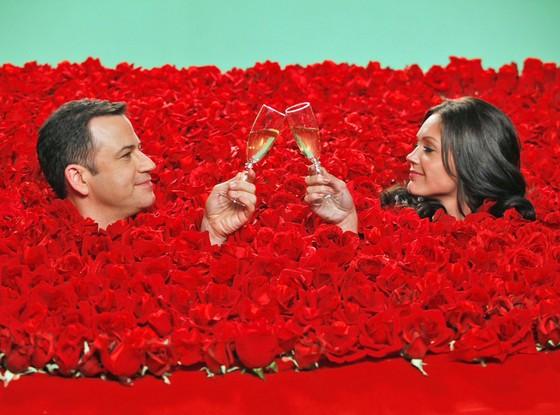Jimmy Kimmel and Desiree Hartstock