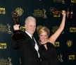 Anthony Geary & Maura West after winning Daytime Emmys in 2015