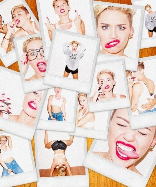Miley Cyrus in a Terry Richardson photo shoot