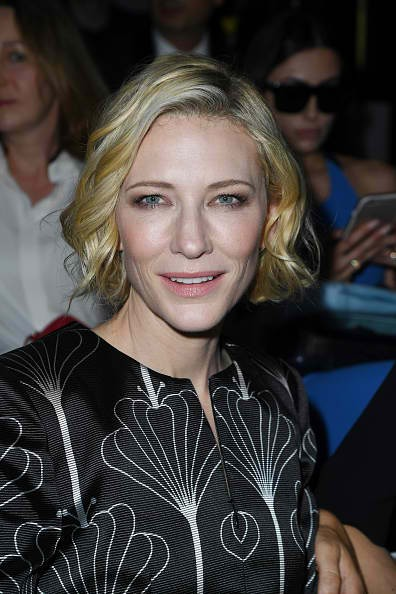 Cate Blanchett attends the Giorgio Armani Prive Haute Couture Fall/Winter 2016-2017 show as part of Paris Fashion Week on July 5, 2016 in Paris, France.