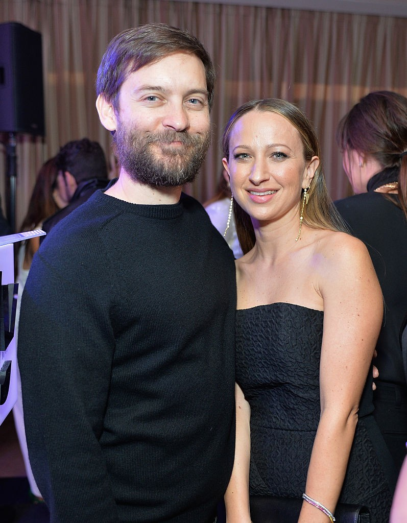 Actor Tobey Maguire (L) and honoree/jewelry designer Jennifer Meyer attend The Daily Front Row 'Fashion Los Angeles Awards' 2016 at Sunset Tower Hotel on March 20, 2016 in West Hollywood, California.