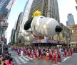Snoopy balloon at Macy's Thanksgiving Day Parade