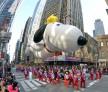 Snoopy balloon at Macy's Thanksgiving Day Parade
