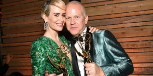 Actors Sarah Paulson and Ryan Murphy attends the FOX Broadcasting Company, FX, National Geographic And 20th Century Fox Television's 68th Primetime Emmy Awards after Party at Vibiana on September 18