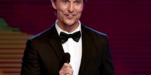 Actor Matthew McConaughey accepts the Best Actor in a Drama Series award for 'True Detective' onstage during the 4th Annual Critics' Choice Television Awards at The Beverly Hilton Hotel.