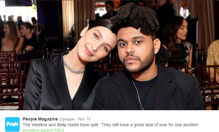 Bella Hadid and The Weeknd split after nearly two years