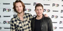 Actors Jared Padalecki (L) and Jensen Ackles attend Entertainment Weekly's PopFest at The Reef on October 29, 2016 in Los Angeles, California.