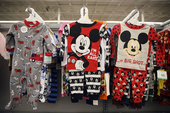 Walt Disney Co. Mickey Mouse children's clothes are displayed for sale at a Wal-Mart Stores Inc. location in Burbank, California, U.S., on Tuesday, Nov. 22, 2016.