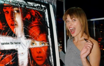 Milla Jovovich looks wonderfully benign at Planet Hollywood