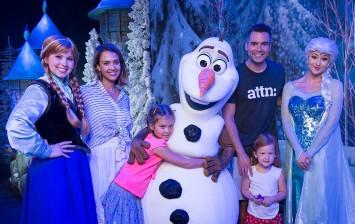 Jessica Alba, Cash Warren And Daughters Visit Walt Disney World