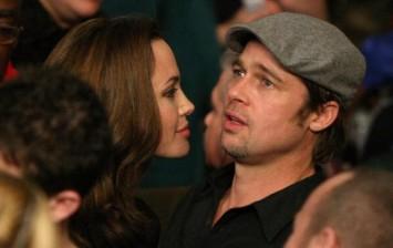Actors Angelina Jolie and Brad Pitt