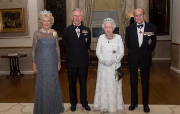 Camilla, Duchess of Cornwall, Prince Charles, Prince of Wales, Queen Elizabeth II and Prince Philip, Duke of Edinburgh