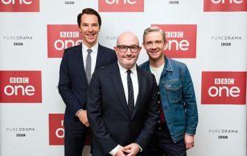 Benedict Cumberbatch, Boyd Hilton and Martin Freeman