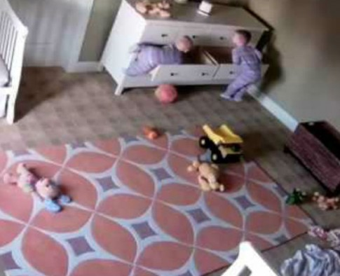 A Two Year Old Leapt Into Action As He Tried To Help His Brother When A Dresser Fell On Him