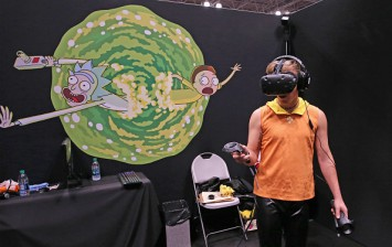 Rick and Morty Virtual Reality Booth