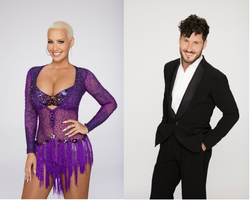 Amber Rose confirms Val Chmerkovskiy romance with a kiss on camera