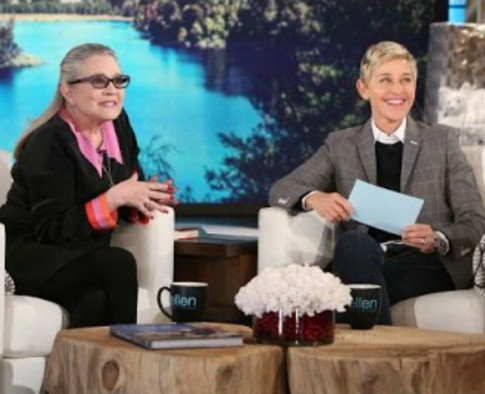 Ellen DeGeneres Shares A Beautiful Tribute To Carrie Fisher