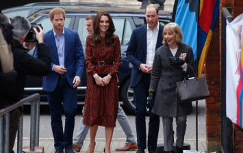 Kate Middleton with Prince William and Prince Harry
