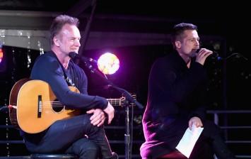 Brad Pitt and Sting