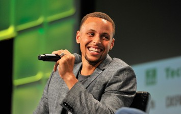 NBA Player Steph Curry speaks onstage during TechCrunch Disrupt SF 2016 at Pier 48 on September 13, 2016 in San Francisco, California.