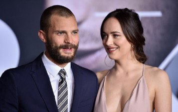 Actors Jamie Dornan and Dakota Johnson