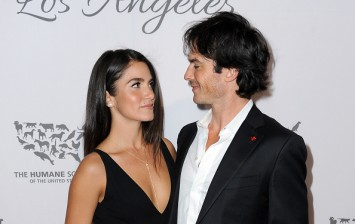 Nikki Reed and Ian Somerhlader in The Humane Society Of The United States' To The Rescue Gala - Red Carpet