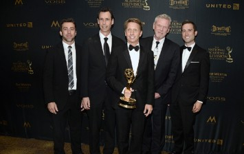 (L-R) Writers Adam Dusevoir, Michael Minnis, Brad Bell, Patrick Mulcahey and Mark Pinciotti of the Bold and the Beautiful