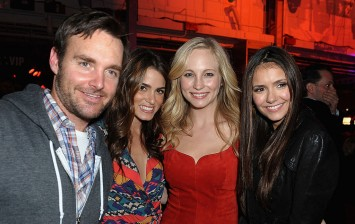 (L-R) Actresses Nikki Reed, Candice Accola and Nina Dobrev arrive at Rolling Stone's Bacardi Bash: 150 Years of Rocking The Party at The Crane Bay on February 4, 2012 in Indianapolis, Indiana.
