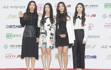 Red Velvet arrive for the 24th Seoul Music Awards at the Olympic Park on January 22, 2015 in Seoul, South Korea.