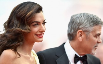 Lawyer Amal Clooney and actor George