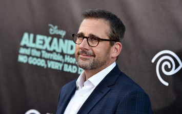 Steve Carell at the Premiere Of Disney's 'Alexander And The Terrible, Horrible, No Good, Very Bad Day' - Red Carpet
