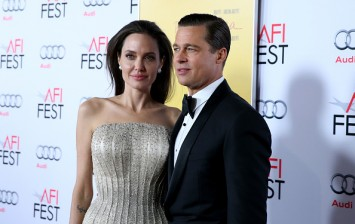 Angelina Jolie and Brad Pitt at the Audi Celebrates AFI FEST 2015 Presented By Audi
