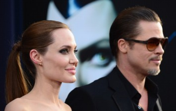 Brad Pitt and Angelina Jolie during the World Premiere Of Disney's 'Maleficent' - Arrivals