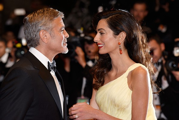 George Clooney and Amal Alamuddin at the 'Money Monster' - Red Carpet Arrivals - The 69th Annual Cannes Film Festival