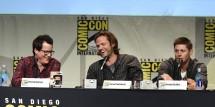 Supernatural Executive producer/writer Jeremy Carver, actors Jared Padalecki and Jensen Ackles
