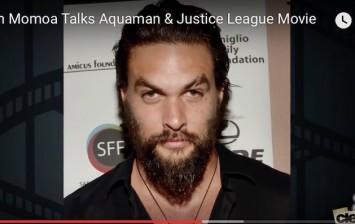 Jason Momoa Teases As Aquaman in