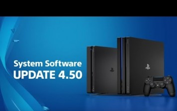 PS4 4.50 System Software Update