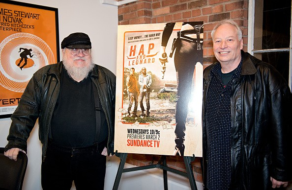 Writers George R. R. Martin and Joe Lansdale
