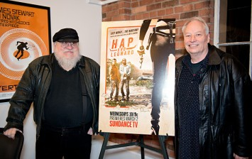 Writers George R. R. Martin and Joe Lansdale