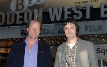 Iain Glen (L) and director Niall Heery