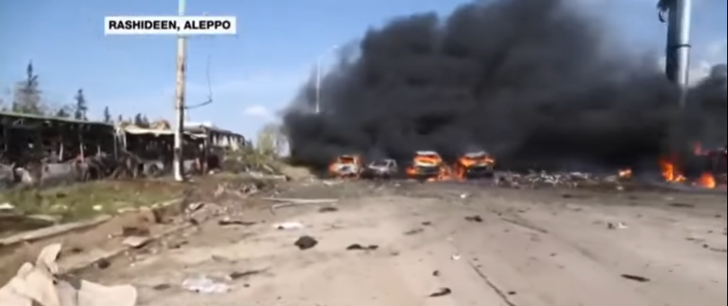 Syria: 100 killed as bomb hits buses with evacuees