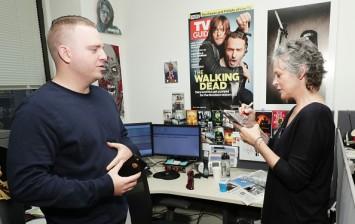 Melissa McBride and AMC staff