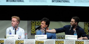 Writers Mark Millar and John S. Romita Jr. and actor Aaron Taylor-Johnson